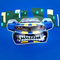 Фото 2 Мяч-прыгун детский с рожками Spokey Speedster (922741), 60 см, детский фитбол, синий с машинкой