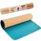 Фото 2 Коврик для йоги Spokey Savasana 926522, пробковый, бирюзовый