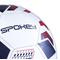 Фото 4 Футбольный мяч Spokey Agilit, размер №5, белый с черно-бордовым рисунком