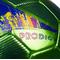 Фото 5 Футбольный мяч Spokey PRODIGY, размер №5, зеленый с рисунком