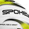 Фото 3 Мяч волейбольный Spokey Gravel Pro 927518, белый с желтым рисунком, размер №5, ручной пошив