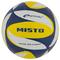 Волейбольный мяч Spokey Misto размер №5, синий рисунок с желтым