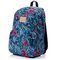 Спортивный рюкзак городской Meteor Leaves 19л, синий с цветами