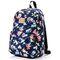 Спортивный рюкзак Meteor Flowers 19л, темно-синий с птицами