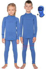 Детский комплект термобелья Rough Radical Snowman теплое с балаклавой, голубой