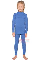 Фото 3 Детский комплект термобелья Rough Radical Snowman теплое с балаклавой, голубой