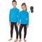Детский спортивный термокомплект Rough Radical Double с балаклавой, голубой с черным