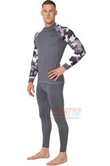 Фото 2 Комплект спортивного мужского термобелья Rough Radical Shooter теплый, серый