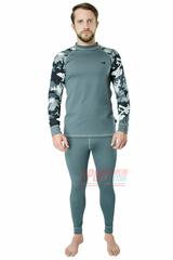 Комплект спортивного мужского термобелья Rough Radical Shooter теплый, серый