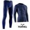 Комплект спортивного мужского термобелья Tervel Comfortline бесшовное, зональное, синий