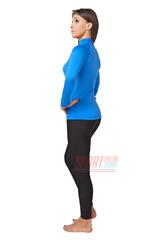 Фото 2 Комплект теплого спортивного термобелья для женщин Rough Radical Acres, голубой с чёрным