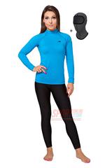 Комплект теплого спортивного термобелья для женщин Rough Radical Acres, голубой с чёрным