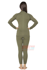 Фото 3 Комплект женского повседневного теплого термобелья Rough Radical Hunter с балаклавой, хаки