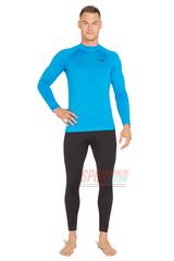 Фото 2 Спортивный комплект термобелья Radical Acres тёплый мужской с балаклавой, голубой с чёрным