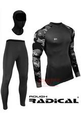 Фото 5 Спортивный женский комплект термобелья Radical Shooter теплый, черный