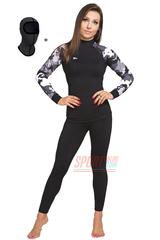 Фото 3 Спортивный женский комплект термобелья Radical Shooter теплый, черный