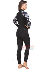 Фото 4 Спортивный женский комплект термобелья Radical Shooter теплый, черный