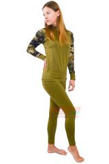Фото 3 Спортивный женский комплект термобелья Radical Shooter теплый, хаки