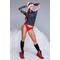 Фото 3 Термо кофта (рашгард) женская спортивная TOTALFIT TRW6-P85, серый с разными цветами