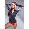 Термо кофта (рашгард) женская спортивная TOTALFIT TRW6-P85, серый с разными цветами
