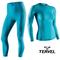Термобельё спортивное женское Tervel Comfortline комплект, бесшовное зональное, голубой