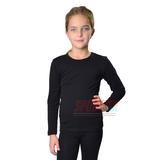 Термокофта детская для девочки JIBER Poly Thermal, чёрная