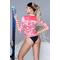 Фото 3 Термокофта спортивная женская (рашгард) TOTALFIT TRW6-P86, розовый с белым