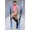 Фото 2 Термокофта спортивная женская (рашгард) TOTALFIT TRW6-P86, розовый с белым
