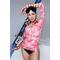 Термокофта спортивная женская (рашгард) TOTALFIT TRW6-P86, розовый с белым