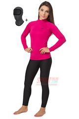 Термокомплект женский спортивный Radical Acres розовый с чёрным с балаклавой