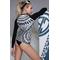 Фото 2 Женская термо кофта спортивная TOTALFIT TRW51-P81, черно-белый принт