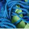 Фото 5 Гамак Spokey IPANEMA 100х200 см, хлопок, сине-зеленая полоска