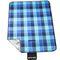 Фото 2 Коврик для пикника и пляжа водонепроницаемый Spokey Flannel 150х180 см, голубой в синюю клетку