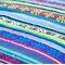 Фото 6 Коврик для пикника и пляжа водонепроницаемый Spokey Floral 130х140 см, полосатый