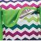 Фото 5 Пляжная термосумка Spokey San Remo (839584), бело-зеленая в зигзаги