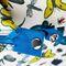 Фото 7 Пляжная термосумка Spokey San Remo (928254), белая с голубым, принт насекомые