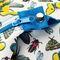 Фото 6 Пляжная термосумка Spokey San Remo (928254), белая с голубым, принт насекомые