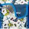 Фото 4 Пляжная термосумка Spokey San Remo (928254), белая с голубым, принт насекомые