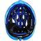 Фото 5 Велошлем защитный Meteor Crust in-Mold, кросс-кантрийный с регулировкой, белый с синими вставками