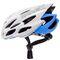 Фото 3 Велошлем защитный Meteor Crust in-Mold, кросс-кантрийный с регулировкой, белый с синими вставками