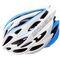 Велошлем защитный Meteor Crust in-Mold, кросс-кантрийный с регулировкой, белый с синими вставками