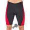 Велошорты мужские с памперсом Radical Racer PRO, чёрные с красными вставками
