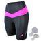 Фото 6 Велошорты женские с памперсом Radical Shine, чёрные с розовым