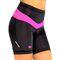 Фото 4 Велошорты женские с памперсом Radical Shine, чёрные с розовым
