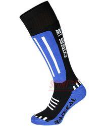 Лыжные высокие термоноски Radical Extreme Line, синие с черным
