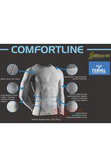 Фото 4 Комплект спортивного мужского термобелья Tervel Comfortline бесшовное, зональное, синий+чёрный