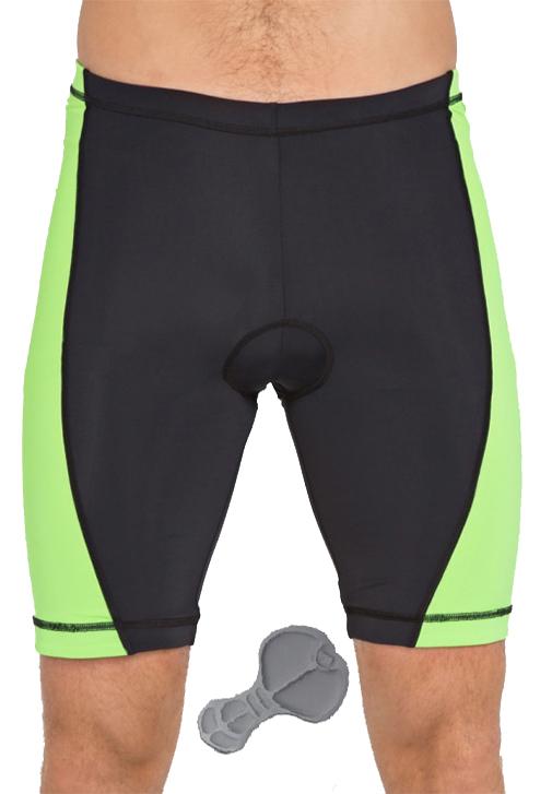 велошорты с памперсом зелёные